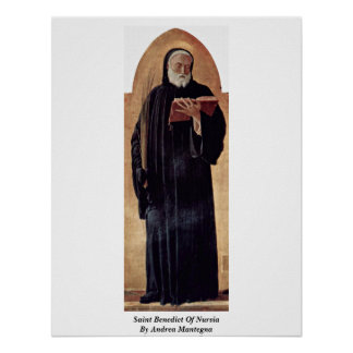 Saint Benedict Of Nursia By Andrea Mantegna Poster
