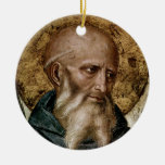 Saint Benedict Double-Sided Ceramic Round Christmas Ornament