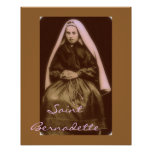 saint bernadette poster
