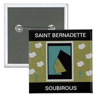 SAINT BERNADETTE SOUBIROUS BUTTON