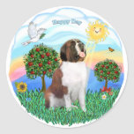 Saint Bernard #1 Round Stickers