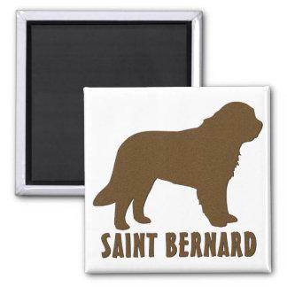 Saint Bernard 2 Inch Square Magnet