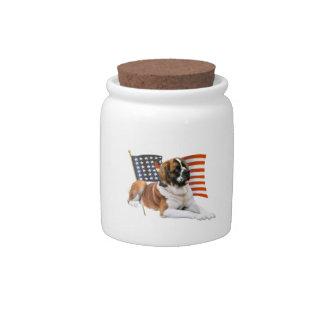 Saint Bernard All American Candy Jar