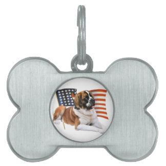 Saint Bernard All American Pet ID Tag