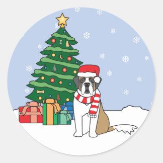Saint Bernard and Christmas Tree Sticker