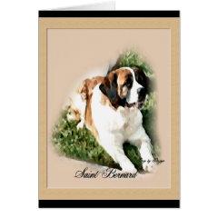 Saint Bernard Art Gifts card