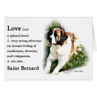 Saint Bernard Art Gifts Card