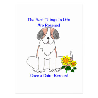 Saint Bernard Best Things In Life Postcard