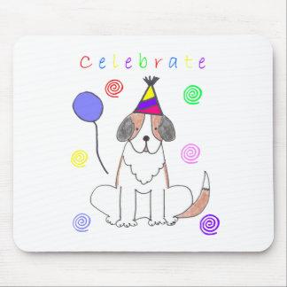 Saint Bernard Celebrate Mouse Pad