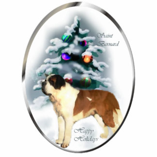 Saint Bernard Christmas Gifts Ornament Acrylic Cut Out