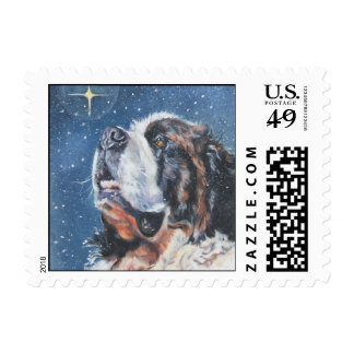 Saint Bernard Christmas Postage