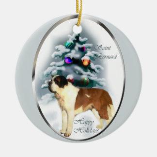 Saint Bernard Christmas Tree Ornaments