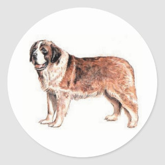 Saint Bernard Classic Round Sticker