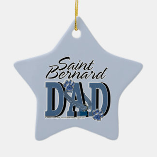 Saint Bernard DAD Ceramic Ornament