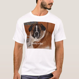 Saint Bernard Daddy's Girl Tshirt