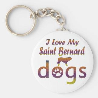 Saint Bernard designs Keychains
