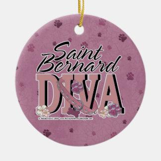 Saint Bernard DIVA Ornaments