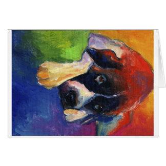 Saint Bernard dog art gift painting Greeting Card