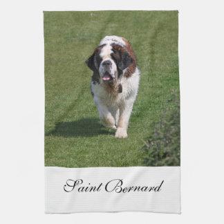 Saint Bernard dog beautiful kitchen tea towel