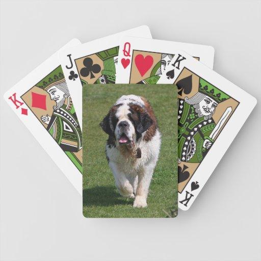 Saint Bernard dog beautiful photo portrait, gift Bicycle Playing Cards