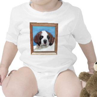 Saint Bernard Dog Breed Painting Baby Creeper