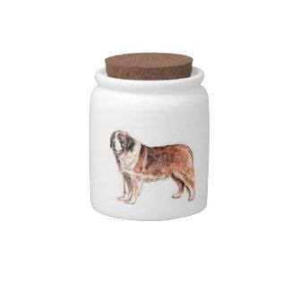 Saint Bernard Dog Candy Jar