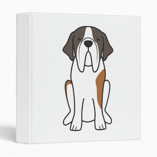 Saint Bernard Dog Cartoon Binder