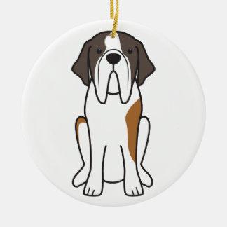 Saint Bernard Dog Cartoon Ornament
