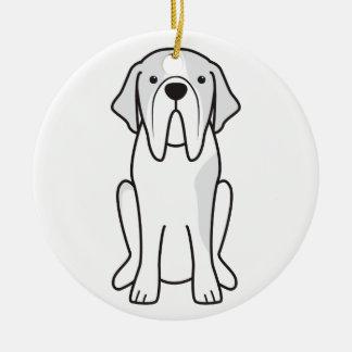 Saint Bernard Dog Cartoon Christmas Ornament