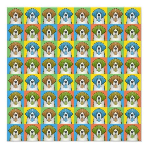 Saint Bernard Dog Cartoon Pop-Art Photo Print