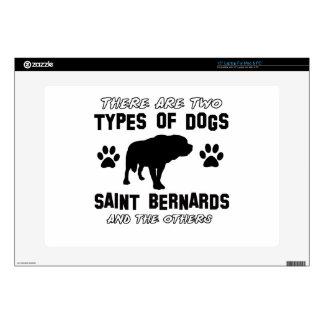 saint bernard dog Designs Laptop Skins