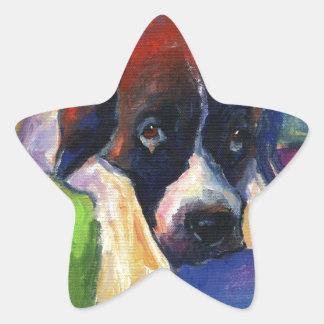 Saint Bernard dog gift art painting Sticker