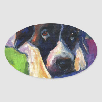 Saint Bernard Dog gift items art painting Stickers