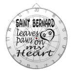 Saint Bernard Dog Leaves Paw On My Heart Dartboards
