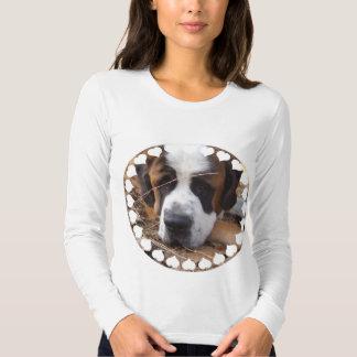 Saint Bernard Dog Long Sleeve Women's T-Shirt