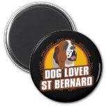 Saint Bernard Dog Lover 2 Inch Round Magnet