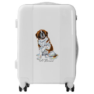 saint bernard dog luggage