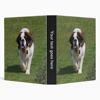 Saint Bernard dog photo album, binder, folder