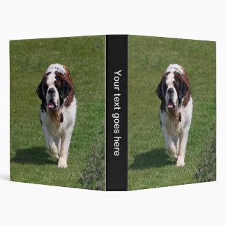 Saint Bernard dog photo album, binder, folder
