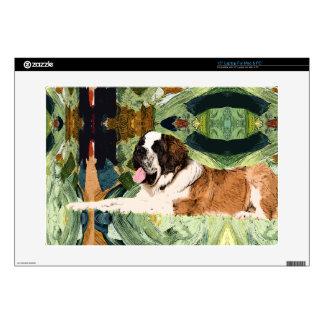 Saint Bernard Dog Skins For Laptops