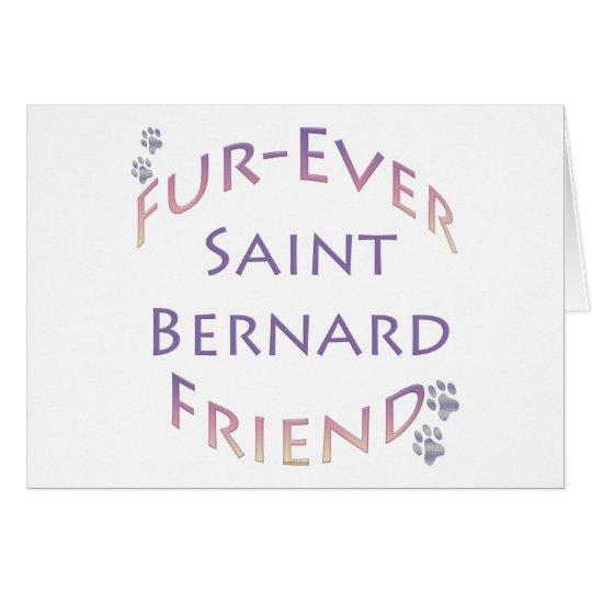 Saint Bernard Furever Friend Card