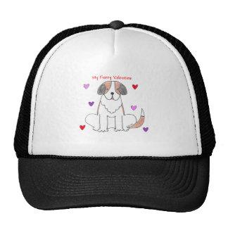 Saint Bernard Furry Valentine Trucker Hat