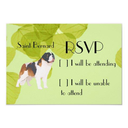 Saint Bernard ~ Green Leaves Design Card