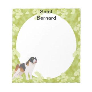 Saint Bernard ~ Green Leaves Design Memo Pads