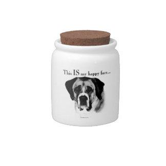 Saint Bernard Happy Face Candy Jars