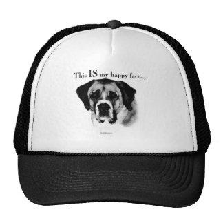 Saint Bernard Happy Face Trucker Hat