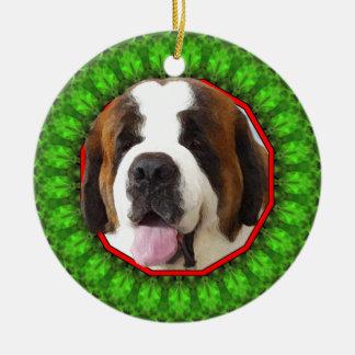 Saint Bernard Happy Howliday Christmas Ornament