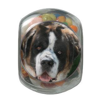 Saint Bernard Jelly Belly Candy Jar