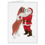 Saint Bernard Jowly Christmas Greeting Cards