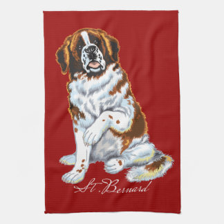 saint bernard kitchen towel